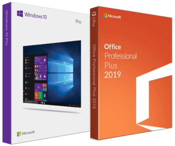 Windows 10 Professional + Office 2019 Professional Plu